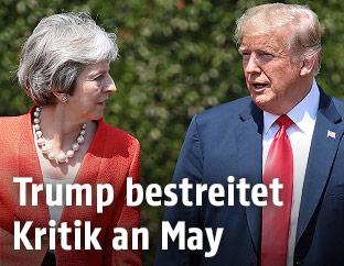 Theresa May und Donald Trump