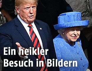 Donald Trump und Queen Elizabeth II.