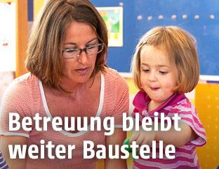 Szene in einem Kindergarten