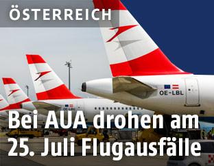 Flugzeuge der Austrian Airlines