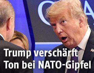 US-Präsident Donald Trump am NATO-Gipfel