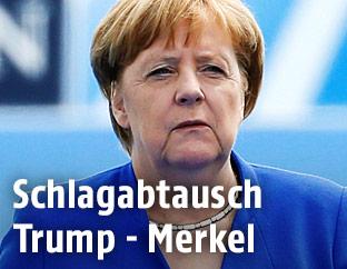 Deutschlands Kanzlerin Angela Merkel beim NATO-Gipfel