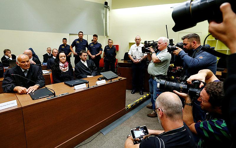 Gerichtssaal in München während dem Prozess von Beate Zschäpe