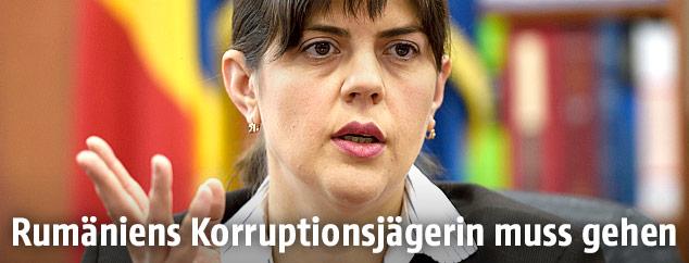 Rumäniens oberste Antikorruptionsstaatsanwältin Laura Codruta Kövesi