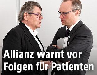 ÖGB-Präsident Wolfgang Katzian und der Vorsitzende des Hauptverbandes der Sozialversicherungsträger, Alexander Biach