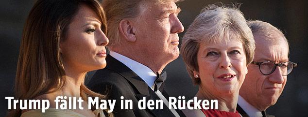 US-Präsident Donald Trump und Großbritanniens Premierministerin Theresa May