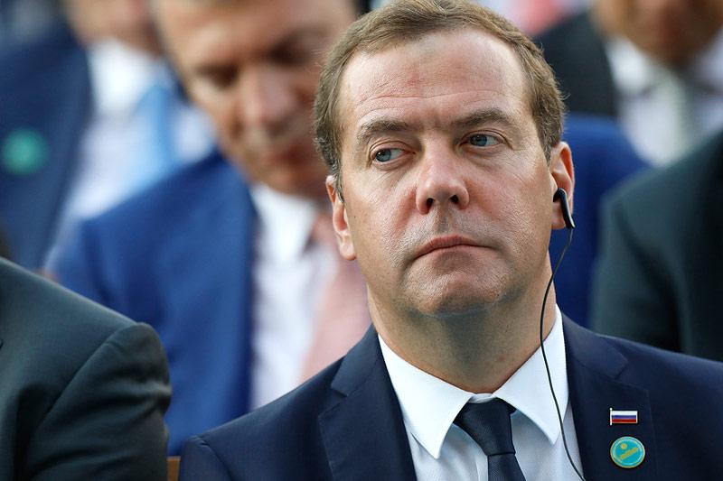 Der russische Ministerpräsident Dimitri Medwedew