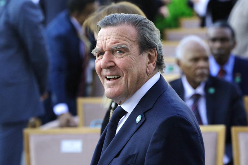 Der deutsche Ex-Kanzler Gerhard Schröder