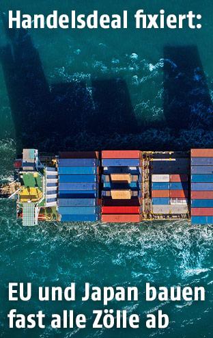 Containerschiff von oben