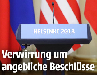 Podium des Gipfels in Helsinki