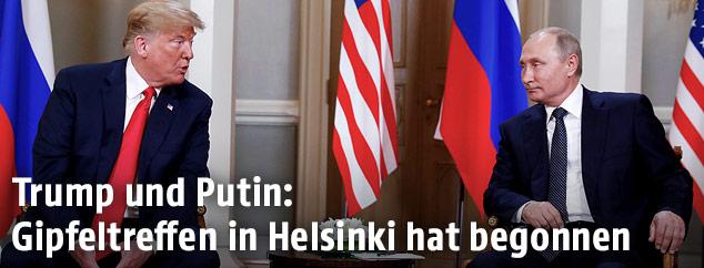 US-Präsident Donald Trump trifft Russlands Präsident Vladimir Putin