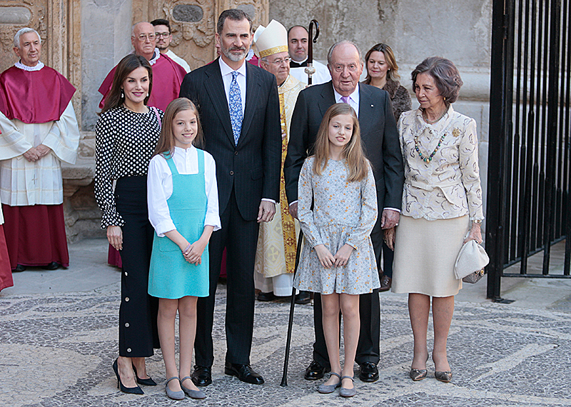 Die königliche spanische Familie bei Osterfeierlichkeiten auf Mallorca im April 2018