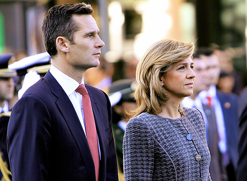 Prinzessin Christina von Spanien mit ihrem Ehemann Inaki Urdangarin im Oktober 2009