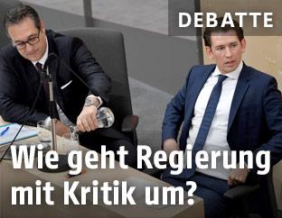 Heinz Christian Strache und Sebastian Kurz