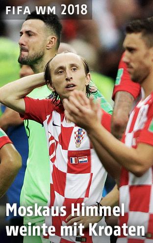 Luka Modric, Danijel Subasic und weitere Kroatische Spieler sind enttäuscht