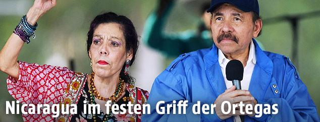 Rosario Murillo und Daniel Ortega