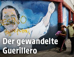 Graffiti zeigt Daniel Ortega