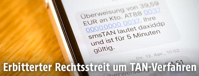 TAN-SMS auf einem Smarphone