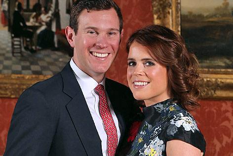 Die britische Prinzessin Eugenie und ihr Verlobter Jack Brooksbank
