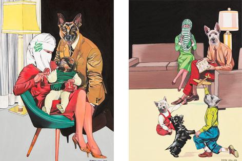 Bilder der Ausstellung von Deborah Sengl