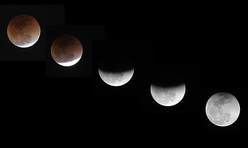Verlauf einer Mondfinsternis
