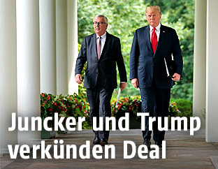EU-Kommissionspräsident Jean-Claude Juncker und US-Präsident Donald Trump