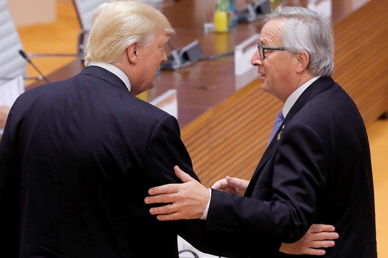Donald Trump und Jean Claude Juncker