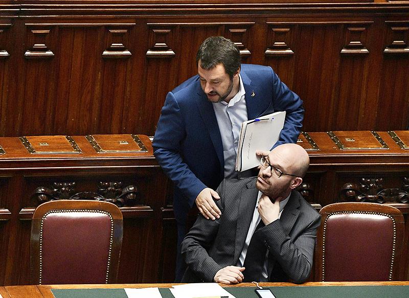 Familienminister Lorenzo Fontana und Innenminister Matteo Salvini