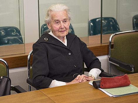 Holocaustleugnerin Ursula Haverbeck vor Gericht in Berlin im Oktober 2017