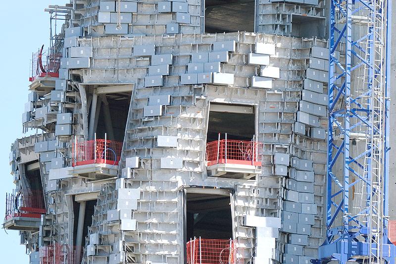 Baustelle am LUMA foundation Tower in Arles