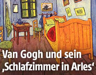 """Gemälde """"Schlafzimmer in Arles"""" von van Gogh"""