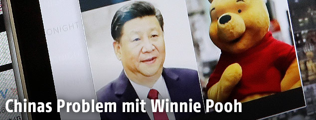 Bild von Chinas Präsident Xi Jinping und Winnie the Pooh