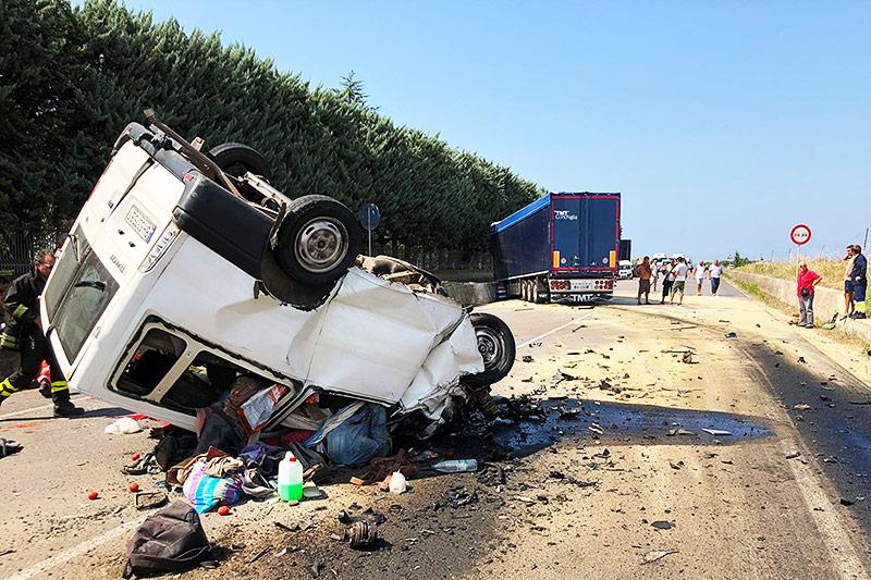 Unfall in Foggia