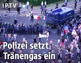 Einsatzkräfte bei Protesten in Rumänien