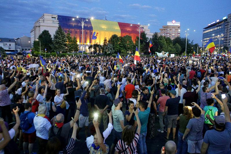 Demonstration in Rumänien