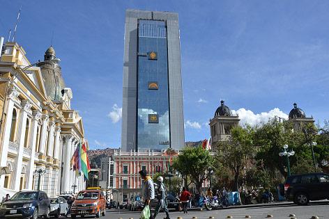 Regierungssitz in La Paz, Bolivien