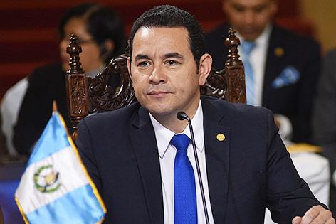 Guatemalas Präsident Jimmy Morales