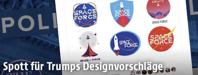 Mögliche Space-Force-Logos