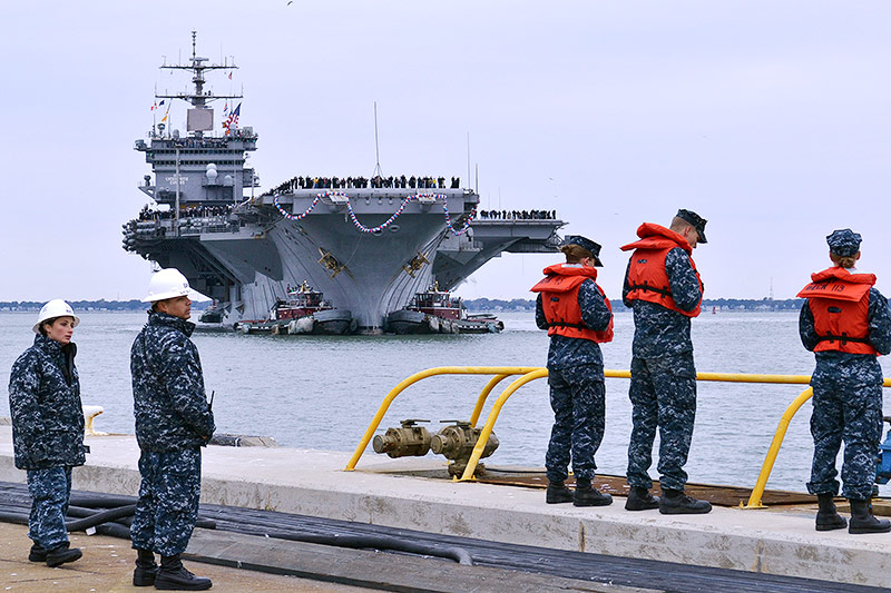 USS Enterprise, 2012
