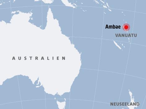 Karte zeigt Ambae