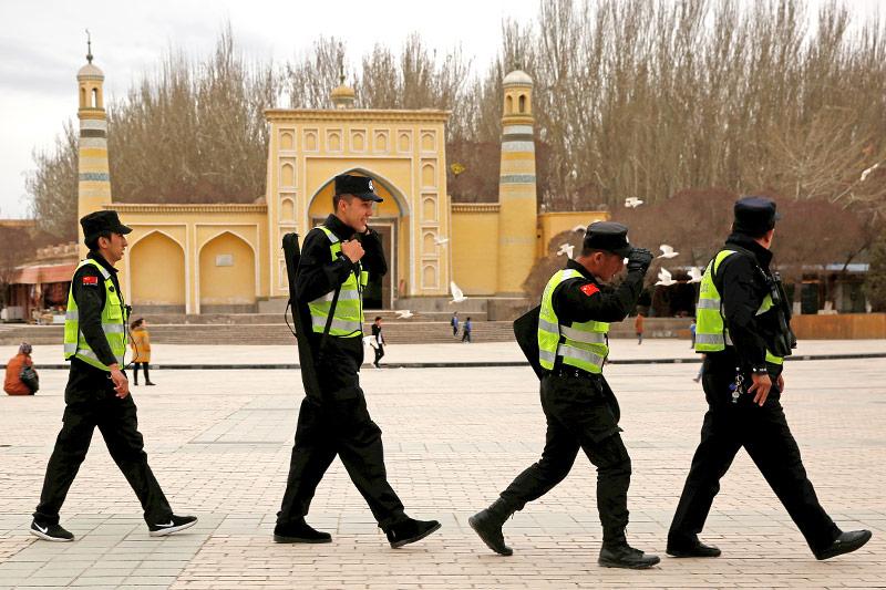 Polizei in Xinjiang, China
