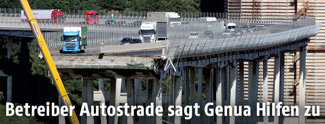 Zerstörte Brücke in Genua