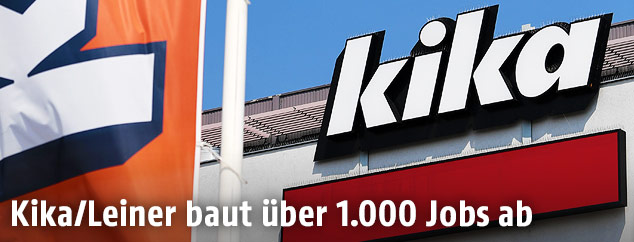 Kika-Logo auf Filiale