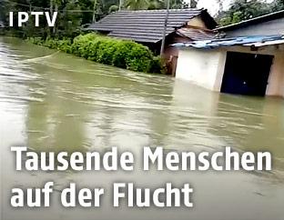 Überschwemmtes Dorf