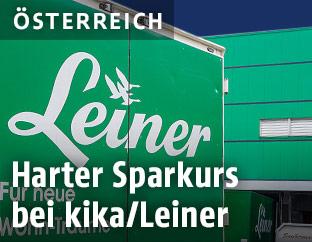Leiner-Logo auf Lkw