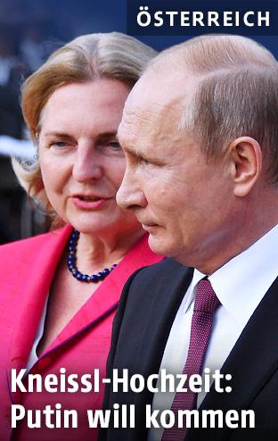 Karin Kneissl und Vladimir Putin