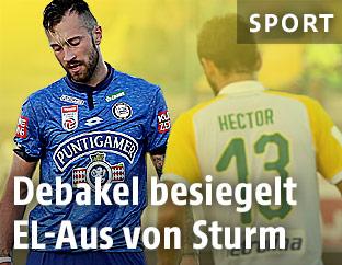 Enttäuschung bei Sturm-Spieler Peter Zulj