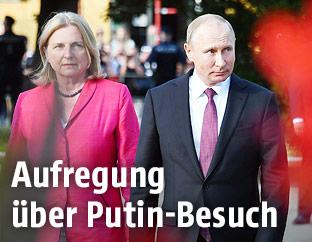 Außenministerin Kneissl und der russische Präsident Putin