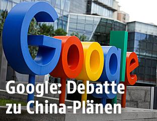 Google-Schriftzug in Peking