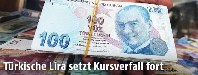 Türkische Lira-Scheine